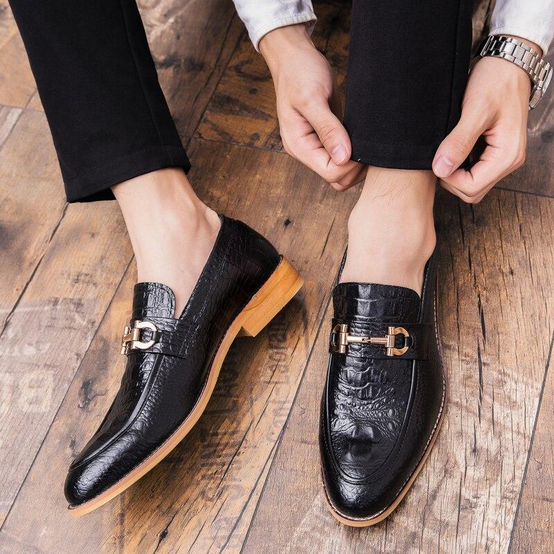 Conduite Véritable Respirant Chaussures Robe Appartements Souples De Noce brown Oisifs Black Hommes Confortables D'affaires Cuir rS8w7qrp
