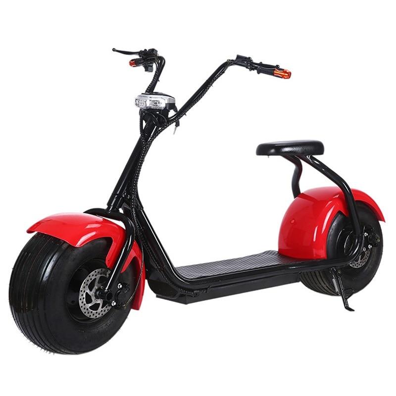 Citycoco Électrique Scooter Électrique Vélo Batterie Au Lithium 60v12a Moto Moteur 1000 w Moto Électrique e Vélo Vélo