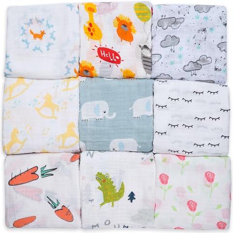 2019 Brand New Cotton Baby Blankets Newborn Kids Muslin Swaddle Wrap Sleeping Bags Baby Carriage Pram Cradle Car Accessories Karachi