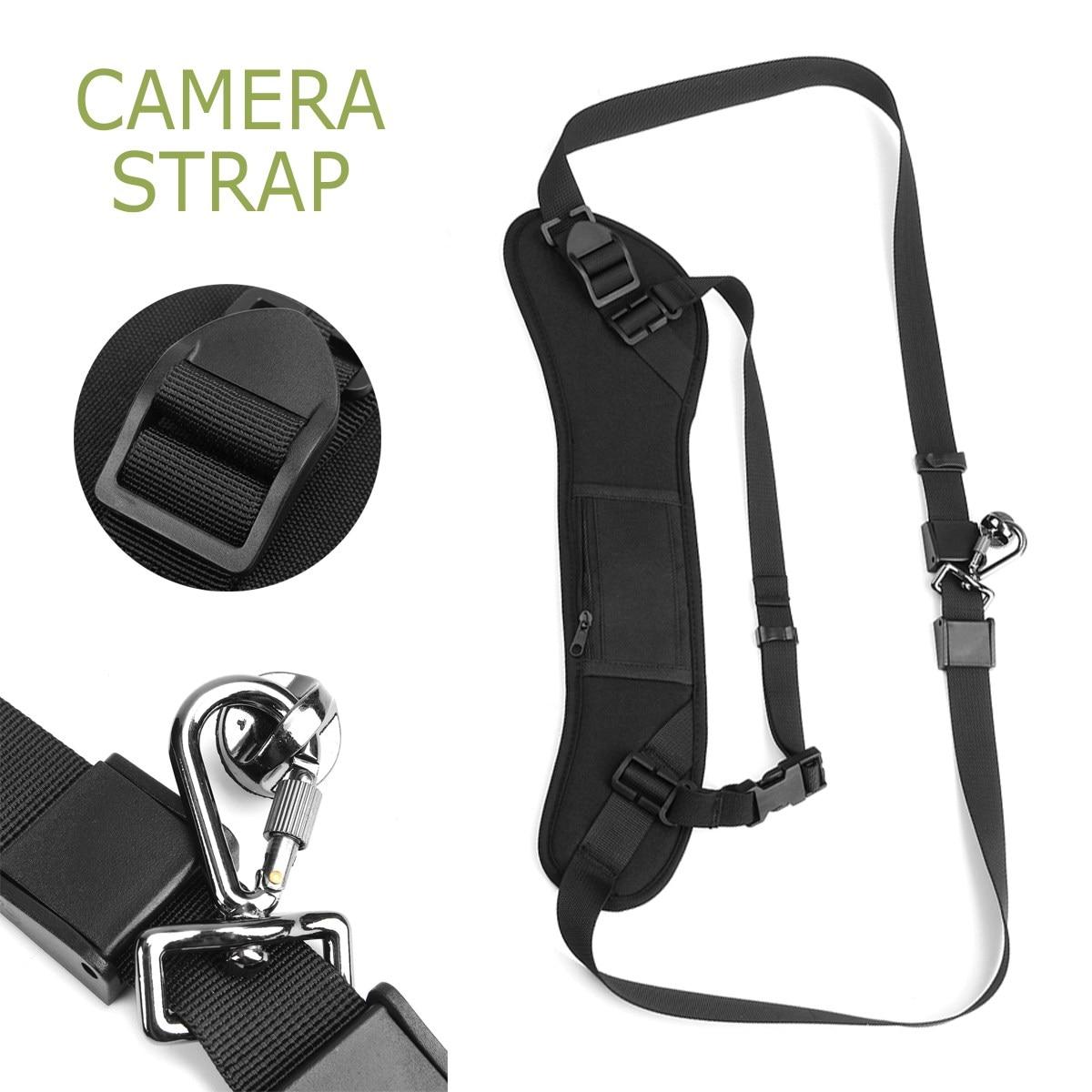 Adjustable Camera Strap Rapid Quick Single Shoulder Black Belt Strap Universal Carry Speed Shoulder Strap for Canon For Nikon