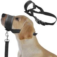 Soft Padded Nylon Dogs Head Collar Dog Training Halter No Pull Pet Muzzle Prevent Bite Black