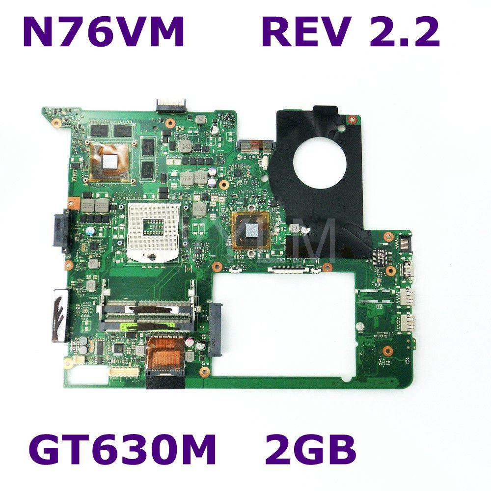 N76VM HM76 GT630M 1GB N13P-GT-A2 REV 2.2 mainboard For ASUS N76VZ N76V N76VM laptop motherboard DDR3 100% Tested Free Shipping free shipping new brand original n76vm n76v laptop motherboard n76v main board rev 2 2 n13p gl a1 100