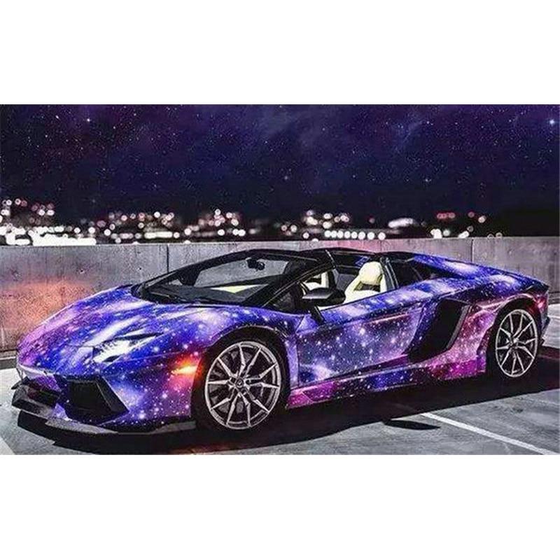 YIKEE Diamond Painting A Sports Car,diamond Embroidery Diy