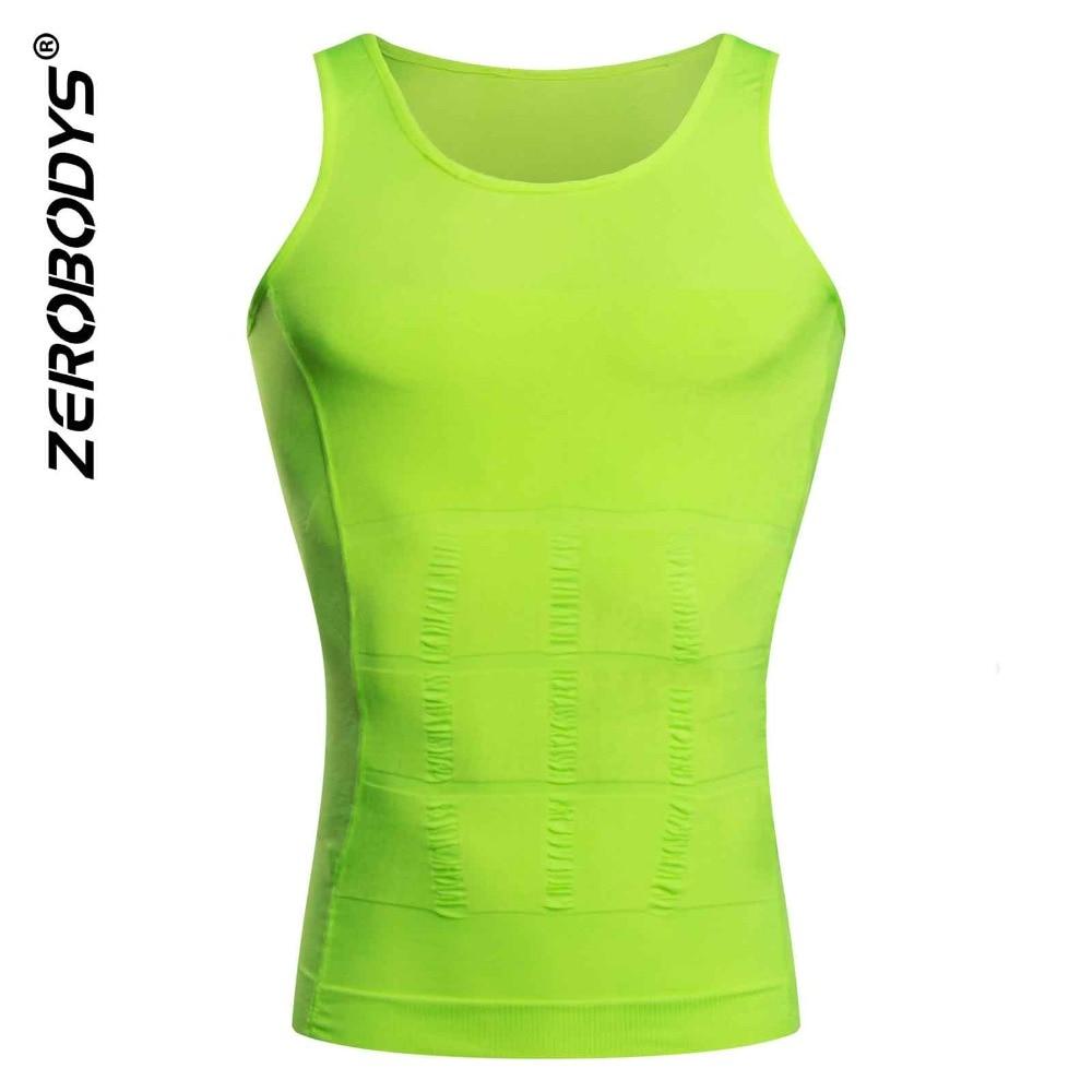 f194cdcc60b Men Corset Body Slimming Tummy Shaper Vest 9 Color Belly Waist Girdle Shirt  Shapewear Underwear Girdle Shirt Waist Girdle Shirts-in Shapers from  Underwear ...