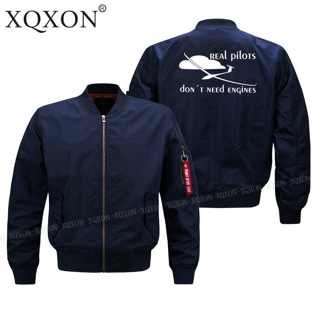 XQXON-real pilots don't need engines print pilot jacket men Coats Jackets (Customizable) top J89