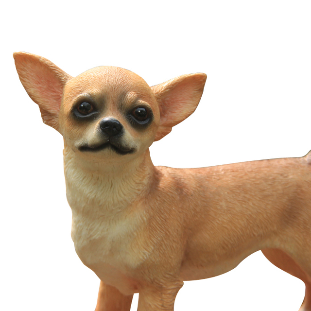 Cute Chihuahua Dog Standing Look At U Pup Statue