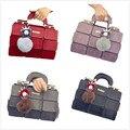 VSEN The new spring/summer women bag PU leather suture Boston bag inclined shoulder bag women leather handbags 4 colors