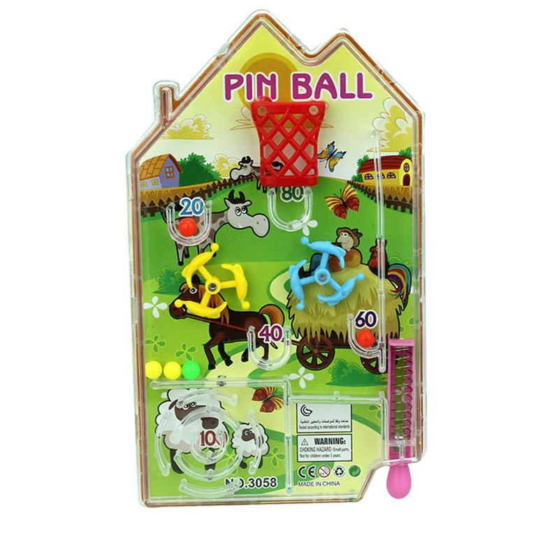 New Kawaii Mini Cartoon Maze House Pin Ball Pan Intelligence Pinball Fun Shooting Balls Games Educational Toys For Children