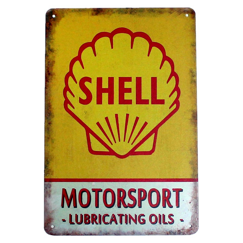 Shell Motorsport lubricating oils. tin plate signs vintage metal picture the wall decoration for bar home cafe garage