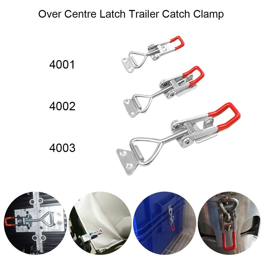 4 x Over Centre Fastener Latch Catch MEDIUM Lockable Truck Trailer Body Clamp