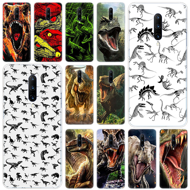 Hot Jurassic dinosaurs Soft Silicone Fashion Transparent Case For font b OnePlus b font font b