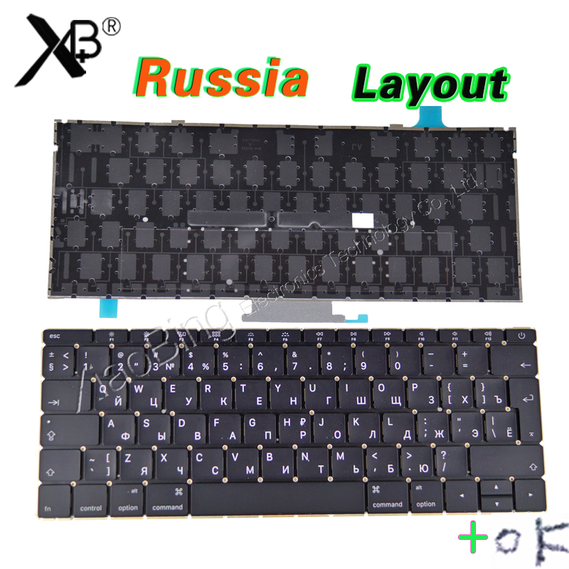 Laptop A1534 Russian RU Keyboard Backlight Backlit +Screws for Macbook 12