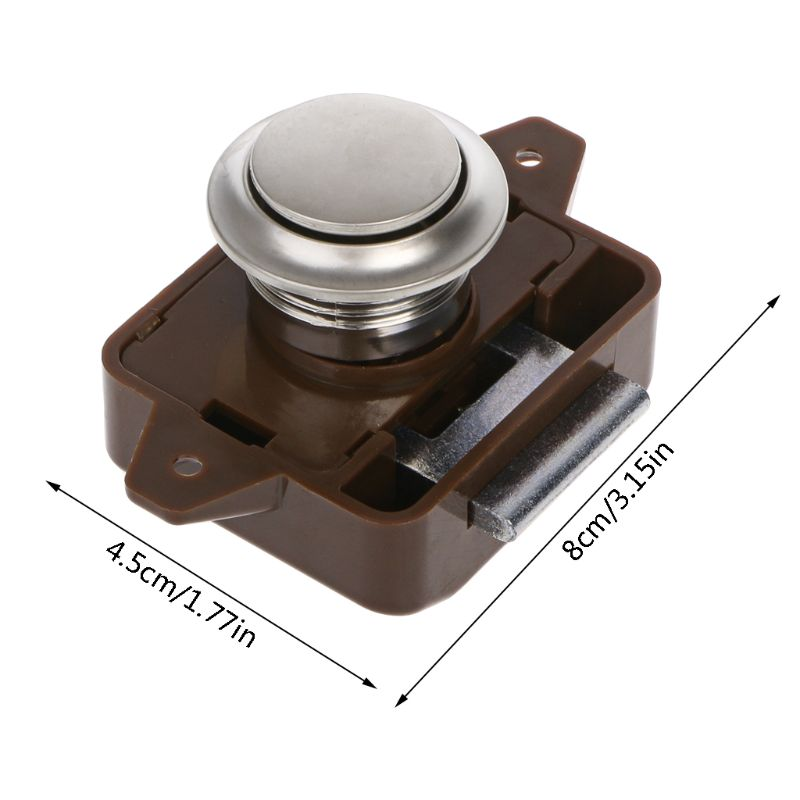 Image 2 - 1 Pc Car Push Lock RV Caravan Boat Motor Home Cabinet Drawer Latch Button Locks For Furniture Hardware Accessories-in RV Parts & Accessories from Automobiles & Motorcycles