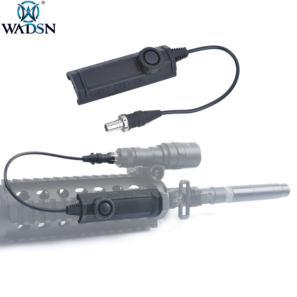 WADSN Airsoft Momentary Function Tactical Weapon Flashlight Remote Dual Function Switch For Surefir M300 M952 M600 Flashlight