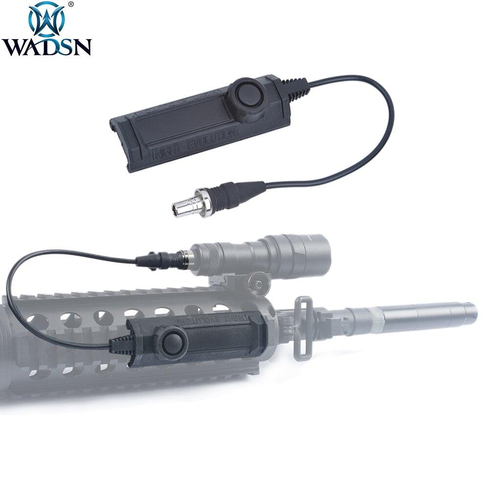 wadsn airsoft funcao momentanea arma tatica lanterna interruptor de funcao dupla remoto para surefir m300 m952