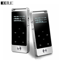 Original Touch Screen HIFI MP3 Player 8GB BENJIE Metal High Sound Quality Entry level Lossless Music Player Support TF Card FM