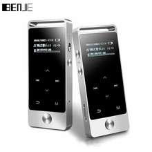 Originele Touch Screen HIFI MP3 Speler 8GB BENJIE Metalen Hoge Geluidskwaliteit Entry level Lossless Muziekspeler Ondersteuning TF Card FM