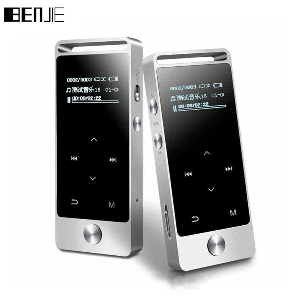 Pantalla táctil original HiFi MP3 reproductor 8 GB Benjie metal de alta calidad de sonido de nivel de entrada sin pérdida reproductor de música TF tarjeta FM