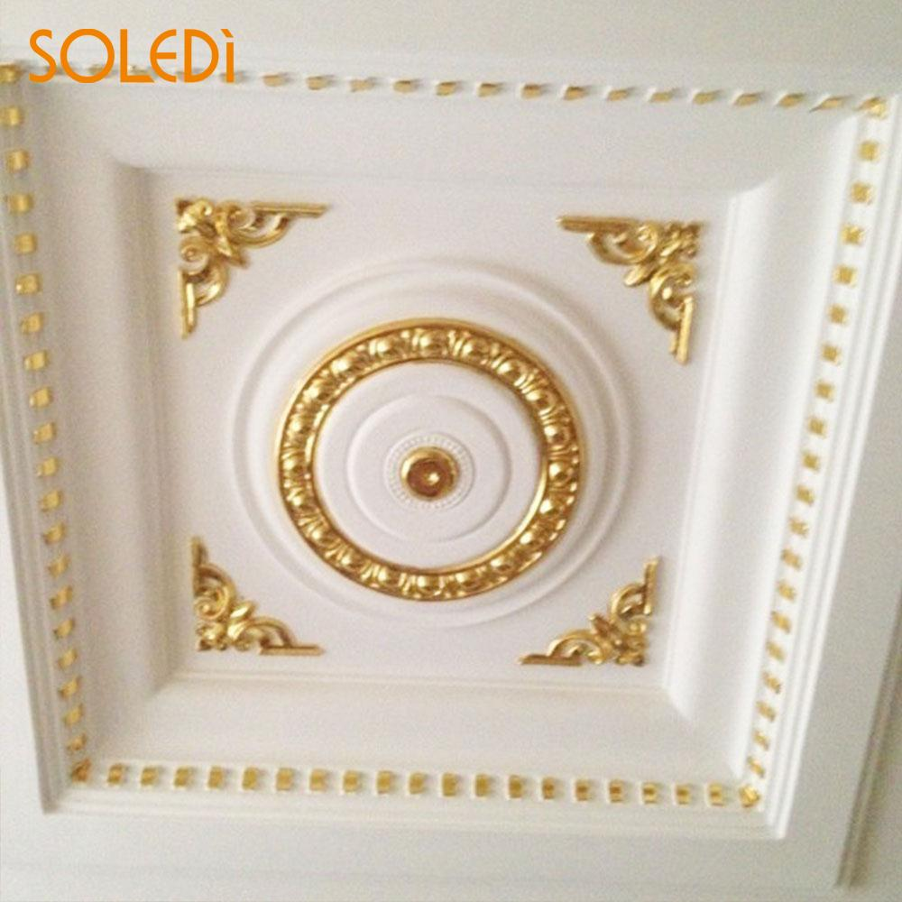 SOLEDI Gold Leaf Frame 9*9*3cm Creative Design 100PCS Foil Decal Art ...
