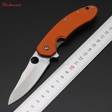 Dcbear Tactical Folding Knife CTS-204P Blade G10 Handle Camping Survival Pocket Knives Outdoor Hunting EDC Tools