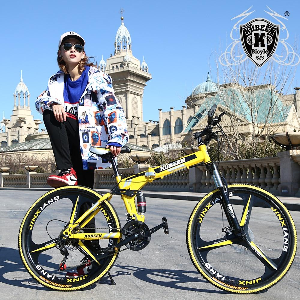 KUBEEN vtt pouces en acier 21-vitesse vélos à double freins à disque à vitesse variable vélos de route vélo de course