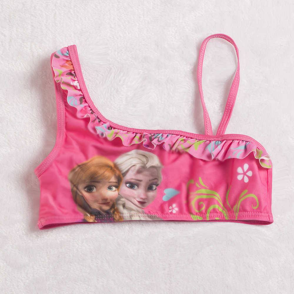 a321cbc5f6 ... Princess Elsa Swimwear Two-piece Girls Swimsuit Lovely Swimming Suits  Bikini Children Swimwear CBiquini Infantil ...