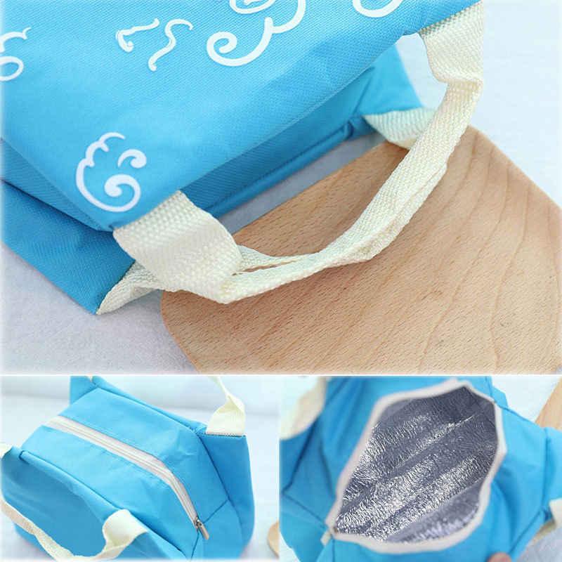Mulheres Almoço Portátil Saco Térmico Isolado Cooler Box Piquenique Carry Tote Alimentos Sacos Para As Mulheres Crianças