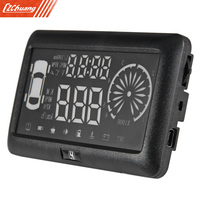 3 pulgadas Del Coche OBD II HUD Head Up Display con Fatiga Advertencia RPM MPH de Velocidad Consumo de Combustible