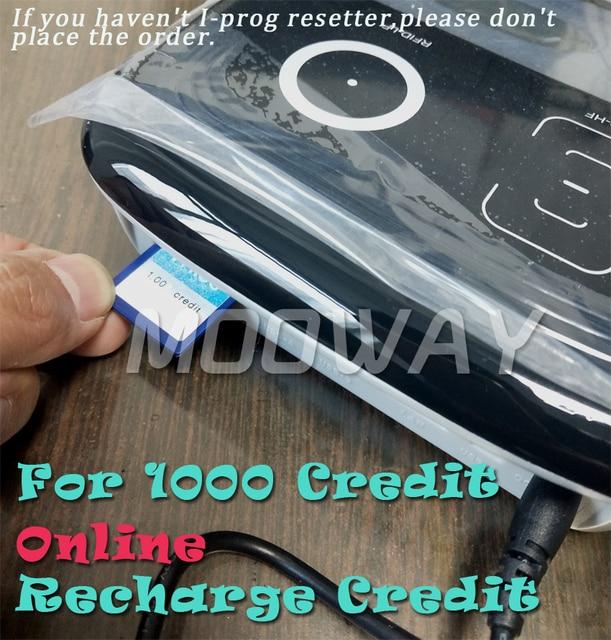 MOOWAY I PROG universal chip Credit for online Credit recharge 1000 Credit