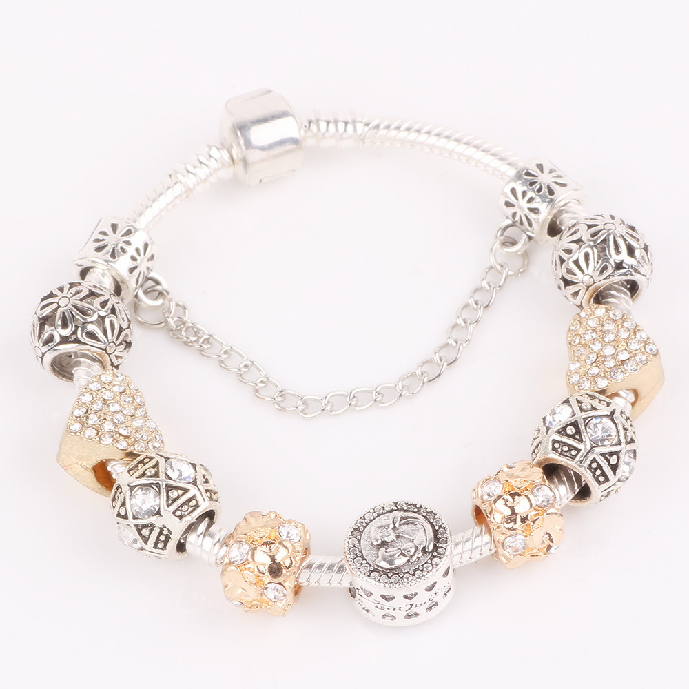 AIFEILI Trendy Fashion Alloy Beads Series DIY High Quality Gifts For Charm  Bracelet Jewelry Accessories