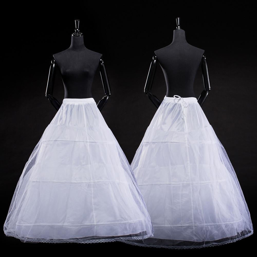 2018 SoDigne Ball Gown Petticoats For Wedding Dresses Elastic 3 Hoops One Tiers Dress Underskirt Crinoline Wedding Accessories
