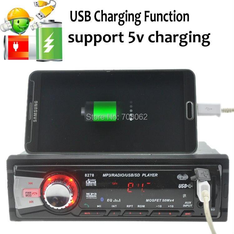 Стиль автомобиля Радио стерео плеер Bluetooth телефон AUX-IN MP3 FM/USB/1 Din/пульт дистанционного управления для iPhone/samsung Android 12 V
