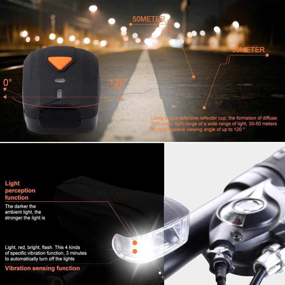 Светодиодный задний фонарь для велосипеда SetUSB перезаряжаемый светодиодный велосипедный фонарь Передний фонарь задний фонарь лампа водонепроницаемый фонарик