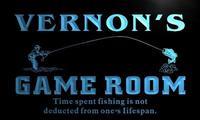 X0186-tm Вернона Рыбалка отверстия игровая комната пользовательских персонализированные имя Neon Sign; оптовая продажа; Прямая поставка; на/выключ...