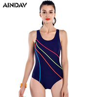 New Arrival Athlete Striped Bathing Suit Swimming Suit For Women One Piece Swimsuit Female Slim Racing