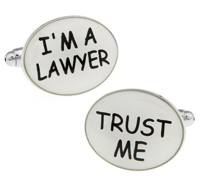 Men Gift Commercial Cufflinks Wholesale&retail White Color Copper Material Novelty I'M A LAWYER TRUST ME Design