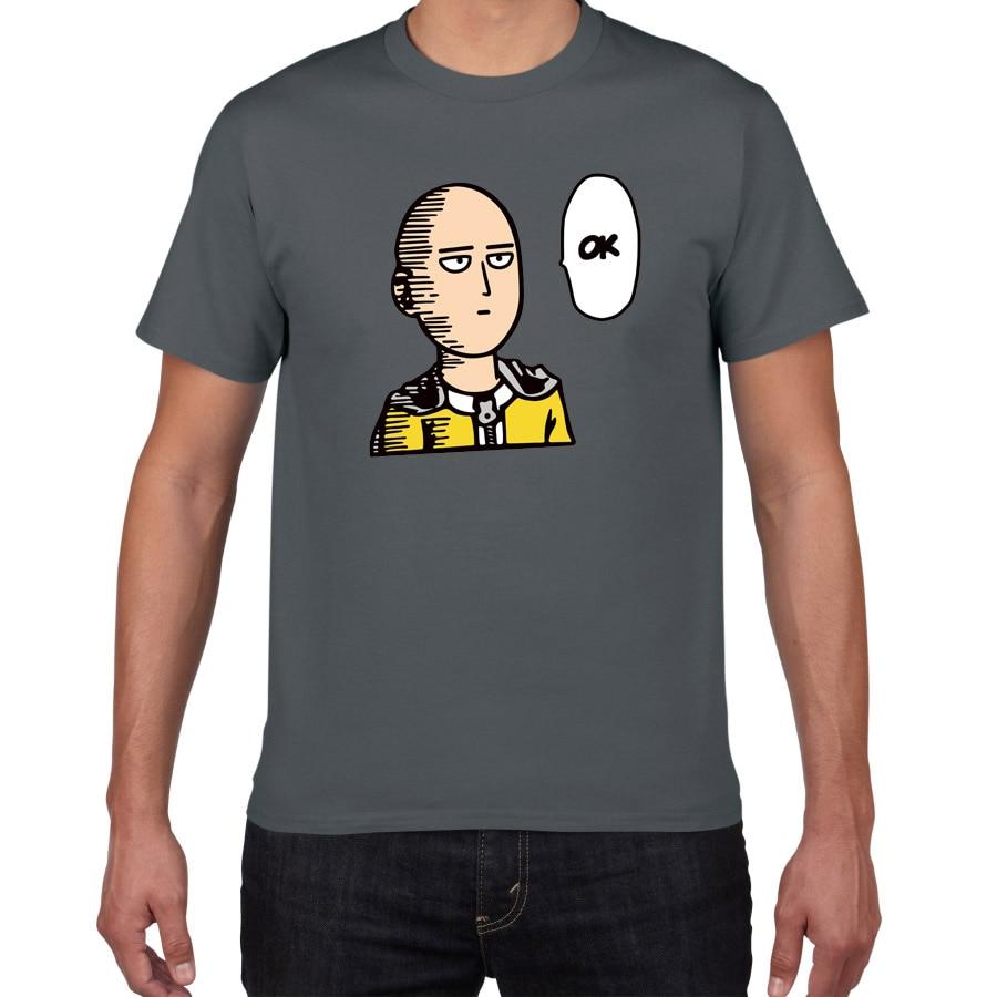 100% Cotton Japan Anime One Punch Man Tshirt Men  Cool Streetwear Men's Tshirt Casual Loose Summer Tee Shirt Homme Men Clothes