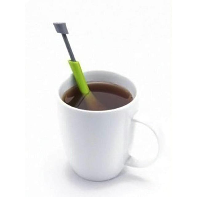 Reusable Tea Infuser Strainer Gadgets Plastic Built-in Plunger Healthy Intense Flavor Tea Bags Measure Swirl Steep Stir&Press 3
