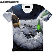 3D Beer Cheers over the Moon all-over-print – men's t-shirt