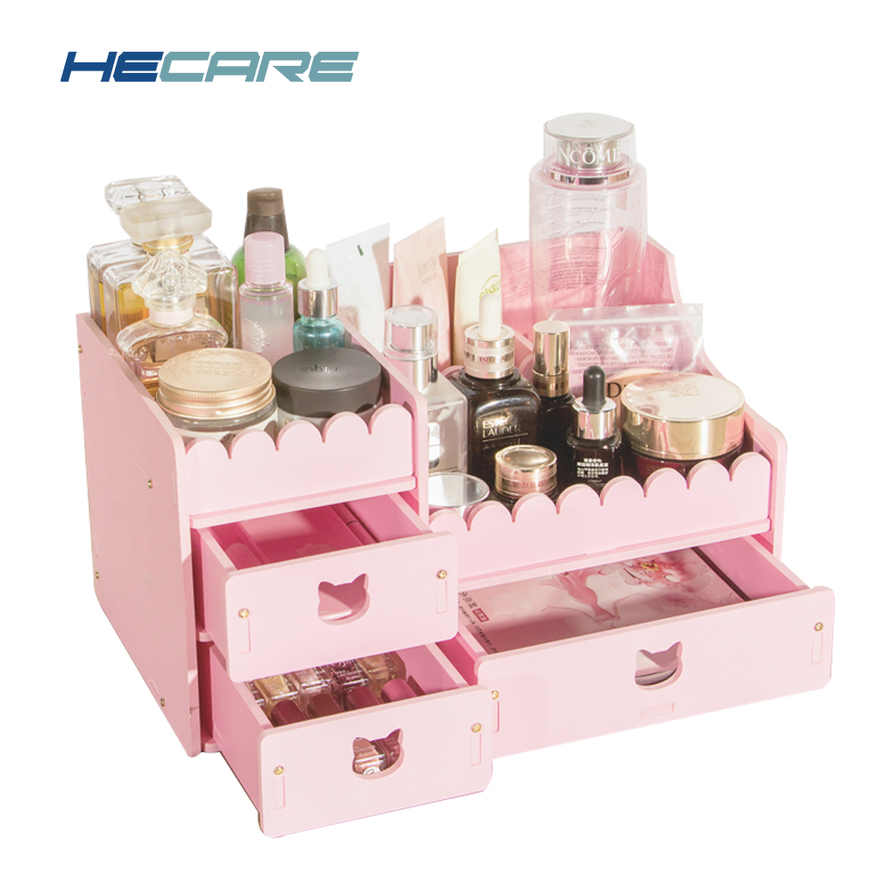 HECARE New Plastic Jewelry Box PVC Waterproof Cosmetic Organizer for Storage Bathroom Plastic Container for Jewelry Promotion