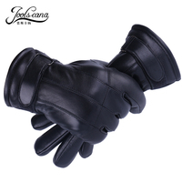 Joolscana Genuine Leather Gloves For Men Lining Thick Real Fur Gloves Winter Gloves Very Warm Good