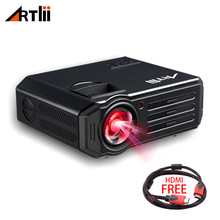 Светодиодный Видеопроектор для домашнего кинотеатра HD мультимедийный проектор для фильмов, игр, матча и вечерние, lcd кинопроектор