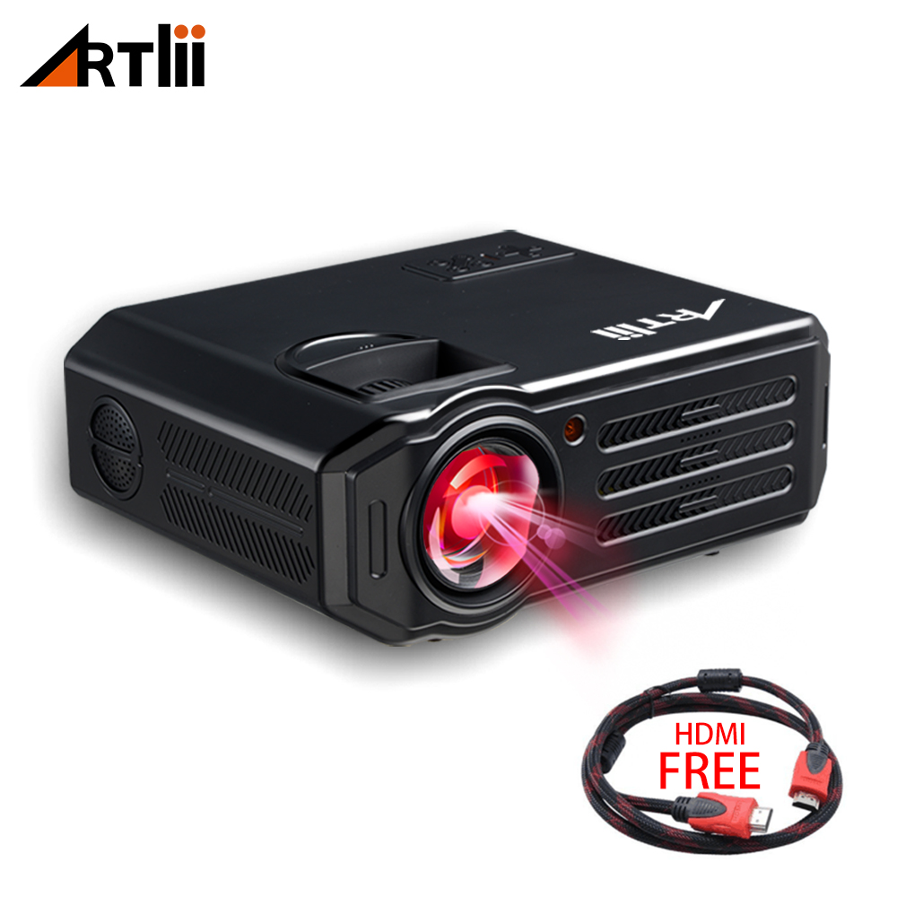 LED Video Projector Home Theater HD Projector Multimedia for Movies, Games, Match and Party, LCD Movie Projector цена 2017