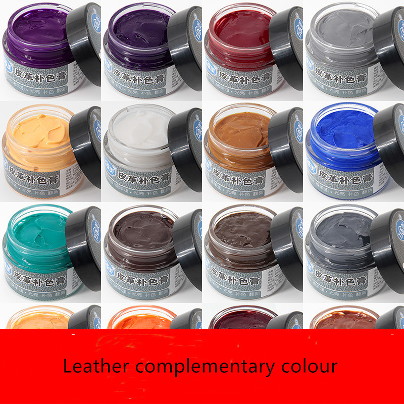 Color Leather Paste Shoe Cream Polish Coloring Agent Stain