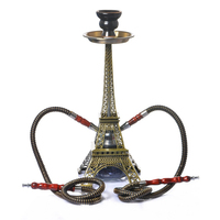 Tower Shisha Pipe Set Glass Base Hookah Set Double Hoses Ceramic Bowl Charcoal Tongs Chicha Narguile Smoking Accessories