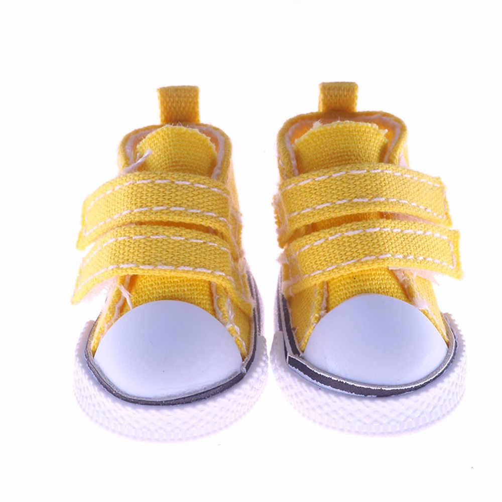 5 см кроссовки обувь 1/6 BJD кукла черный белый красный синий желтый парусиновые туфли кукольные аксессуары