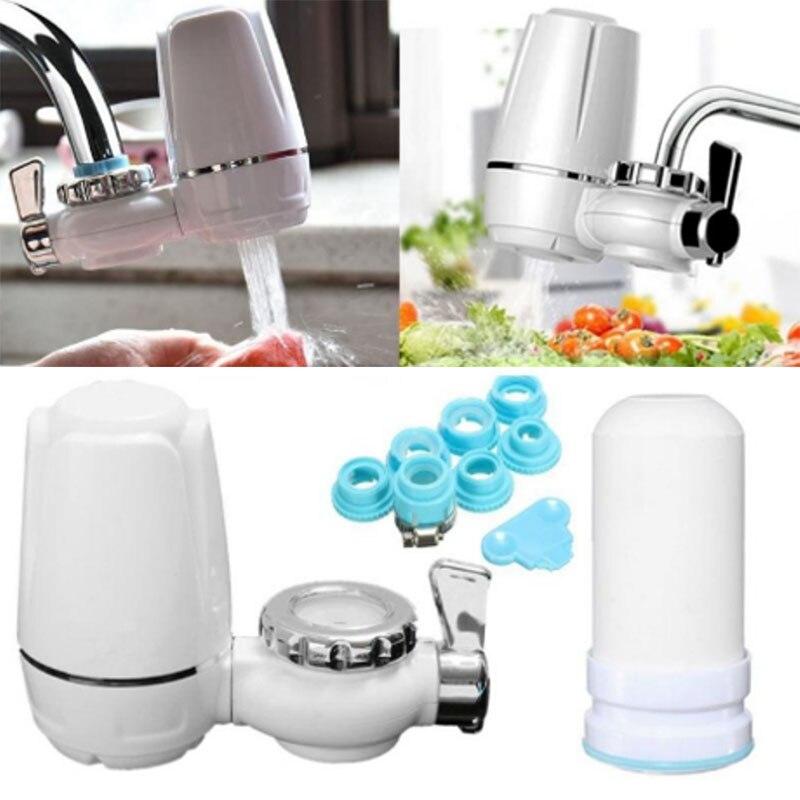 Tap Water Purifier Kitchen Faucet Washable Ceramic Percolator Mini Water Filter Bacteria Removal ALI88