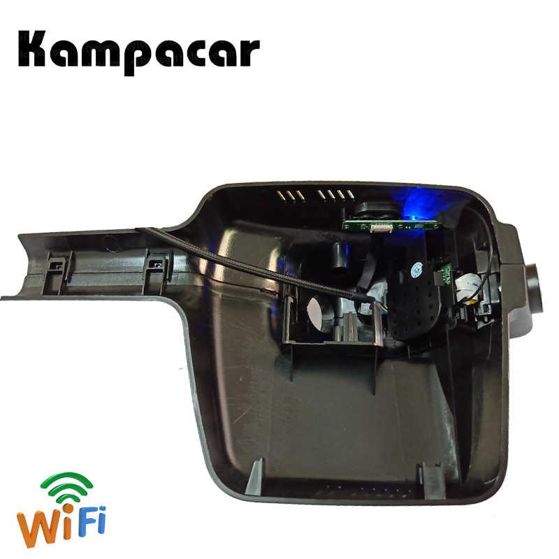 Kampacar Wifi двойной объектив Dash Cam Автомобильный dvr камера видео регистраторы для peugeot 308 2017 2018 зеркало заднего вида 2 Dvrs с двумя камера s