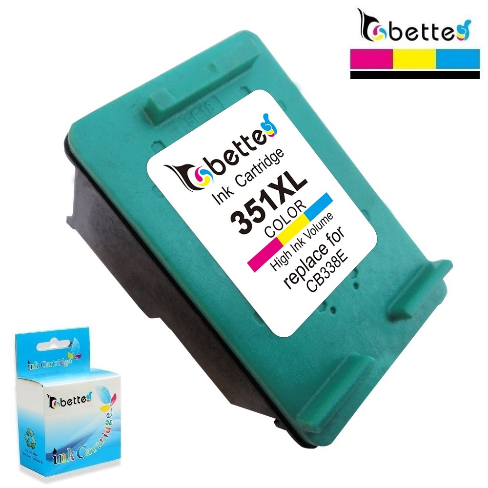 Bette Ink <font><b>Cartridge</b></font> Replace for <font><b>HP</b></font> 351XL <font><b>351</b></font> Photosmart D5300 D5345 D5360 D5363 D5368 C5288 C5290 C5293 D4200 D4245 D4260 D4268 image
