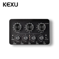 KEXU profession multi function Live sound card for microphopne recording Supports mobile phones computers for BM 800 and more
